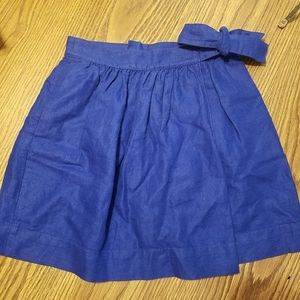 J.Crew Skirt with Pocket ,Side Tie ,Zipper in back